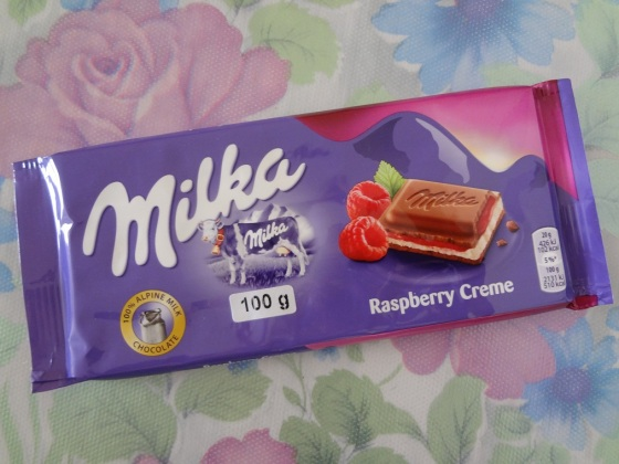 milka raspberry creme