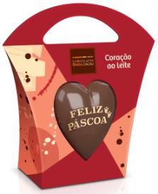 coração de chocolate ao leite