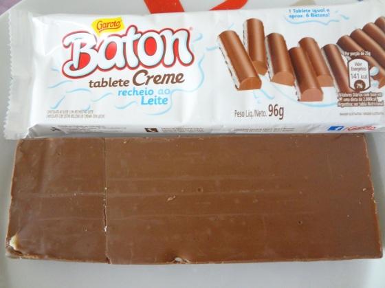 baton tablete creme recheio ao leite